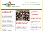 Sprockets November 2013 Newsletter